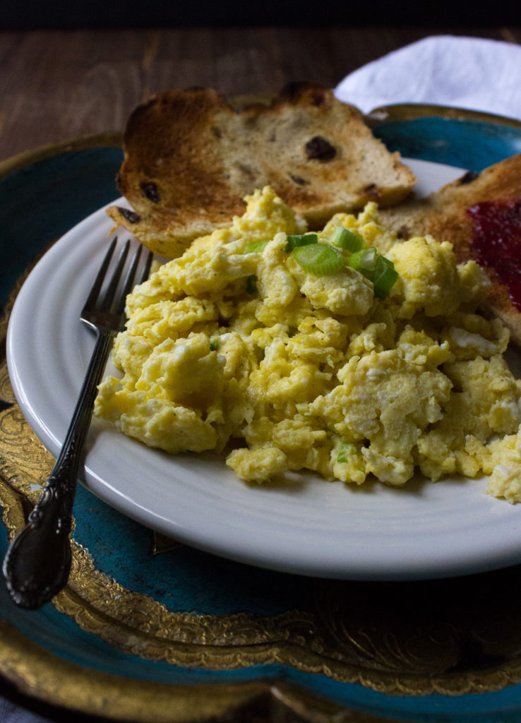 Garlic and Parmesan Scrambled Eggs - I Say Nomato Nightshade Free Food Blog