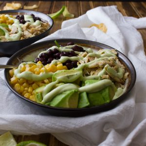 Nightshade Free Southwest Salad with Avocado and Greek Yogurt Salad Dressing