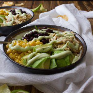 Nightshade Free Southwest Salad with Avocado and Greek Yogurt Salad Dressing