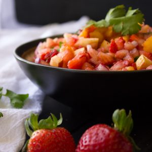 Watermelon and Strawberry Fruit Salsa