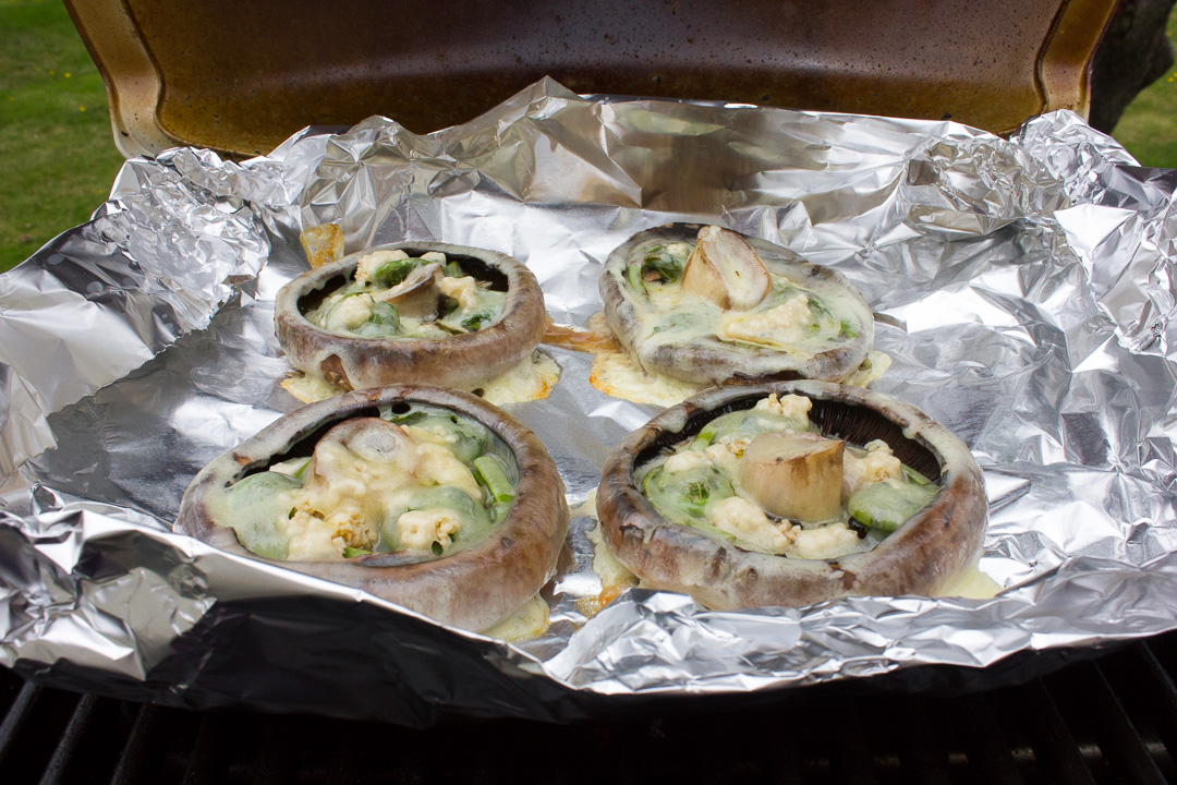 What better way to enjoy fiddleheads than on the barbecue in these Fiddlehead Stuffed Portobello Mushrooms?