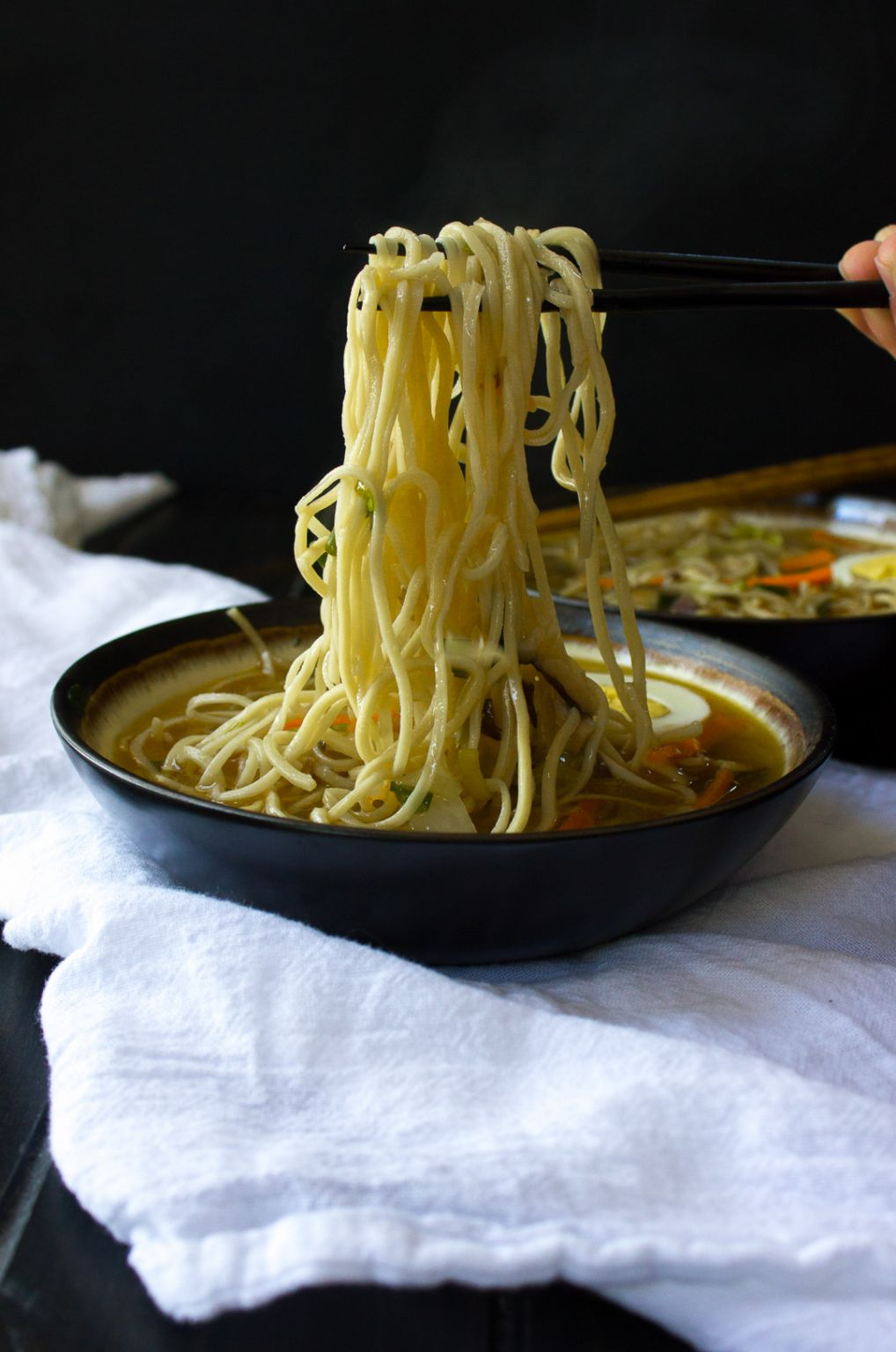 This homemade Nightshade Free Ramen is exploding with flavour!