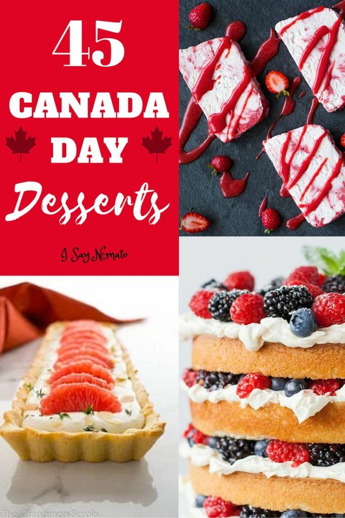Canada Day Desserts - I Say Nomato
