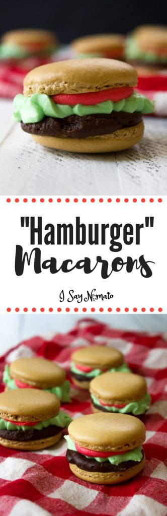These Hamburger Macarons are the perfect treat to bring to any barbecue. Funny and sweet, they're a real crowd-pleaser!
