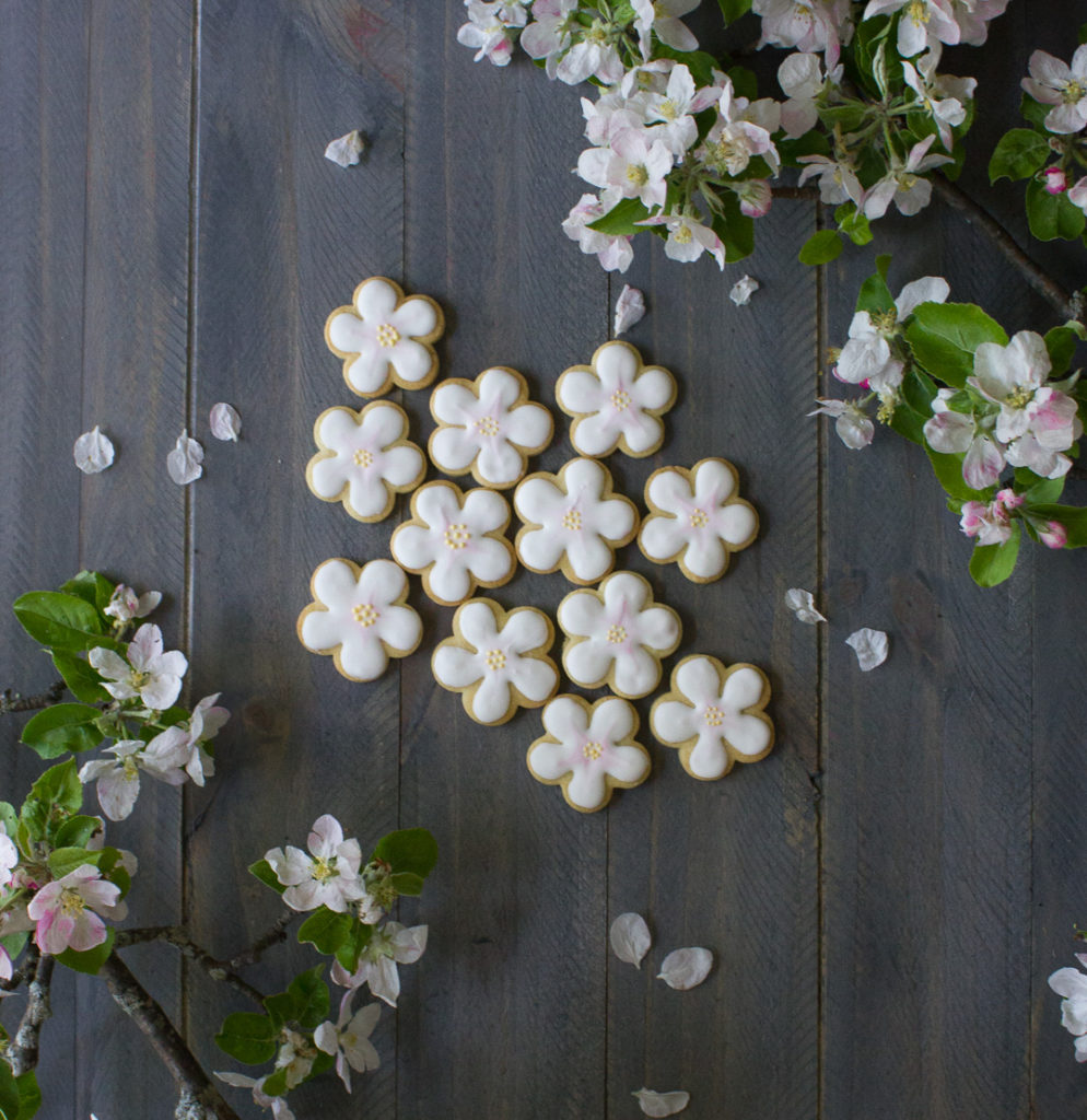 Apple Blossom Sugar Cookies - I Say Nomato