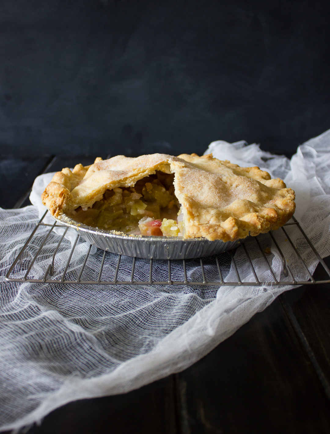 Sweet and tart, this classic recipe for Rhubarb Pie is a must-try! - I Say Nomato