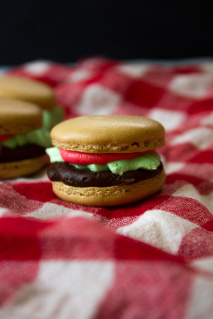 """Hamburger"" Macarons - I Say Nomato"