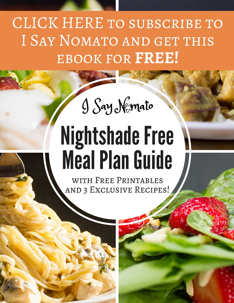 Nightshade Free Meal Plan Guide - I Say Nomato