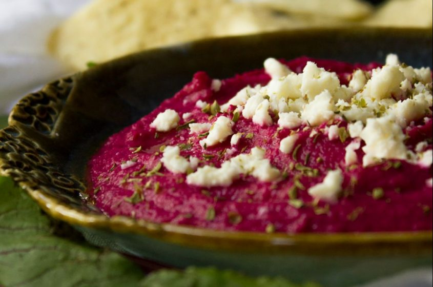Roasted Beet and Feta Hummus - I Say Nomato