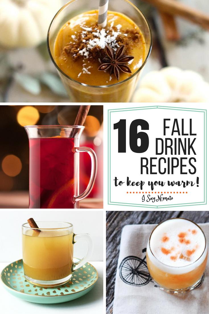 16 Fall Drink Recipes - I Say Nomato
