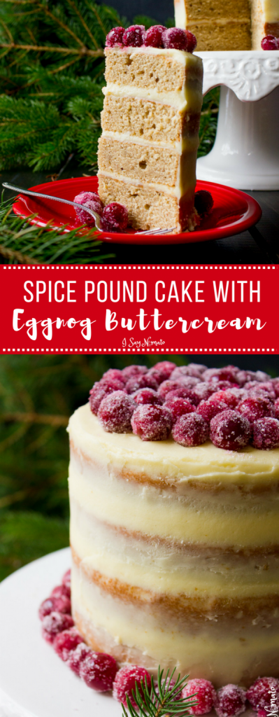 What better way to get into the holiday spirit than with this heavenly Spice Pound Cake with Eggnog Buttercream?