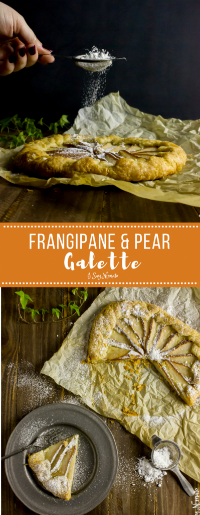 Light, flaky pastry, pears and almond cream make the perfect Frangipane and Pear Galette from I Say Nomato