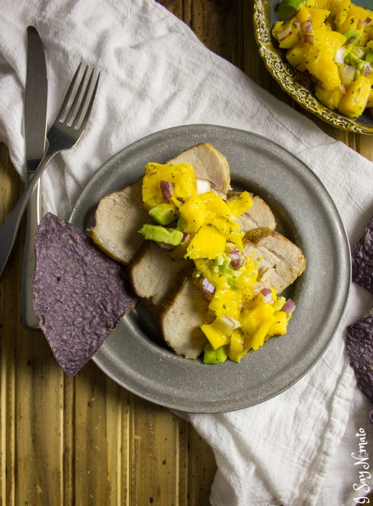 Pork Tenderloin with Mango Salsa - I Say Nomato Nightshade Free Food Blog