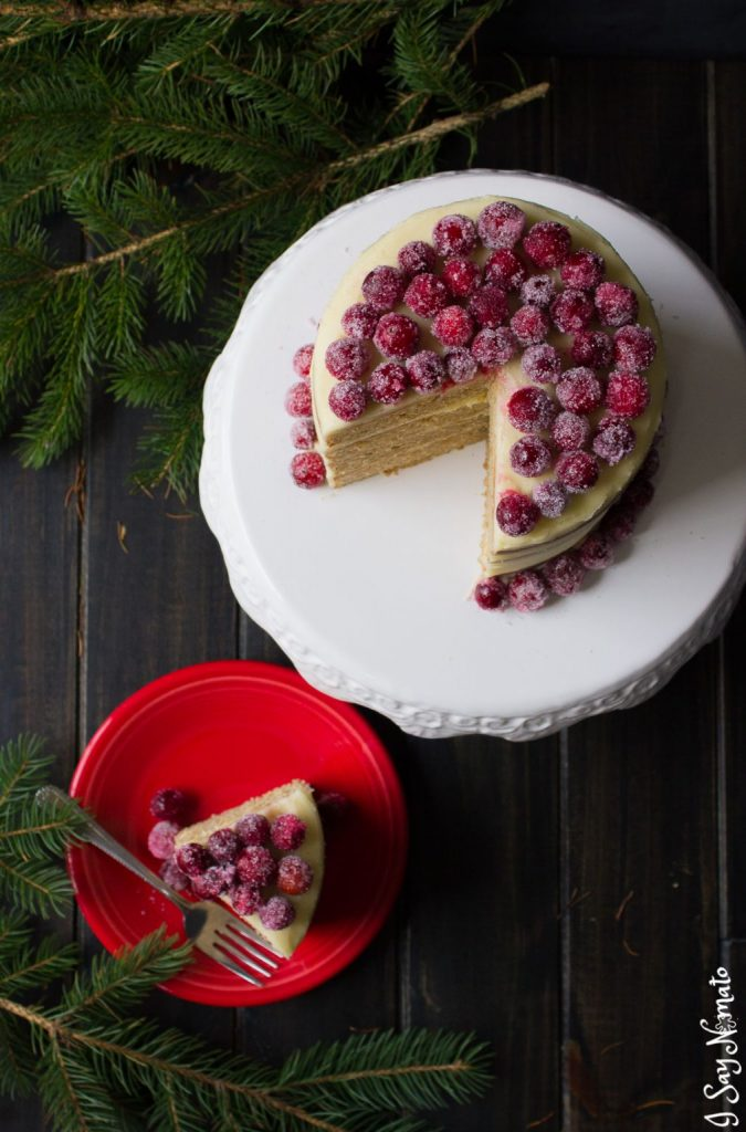 Spice Pound Cake with Eggnog Buttercream - I Say Nomato Nightshade Free Food Blog