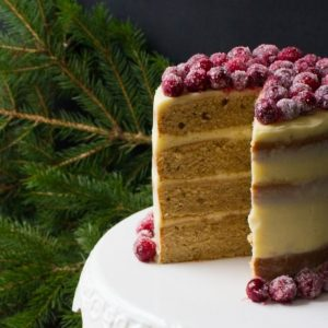Spice Pound Cake with Eggnog Buttercream
