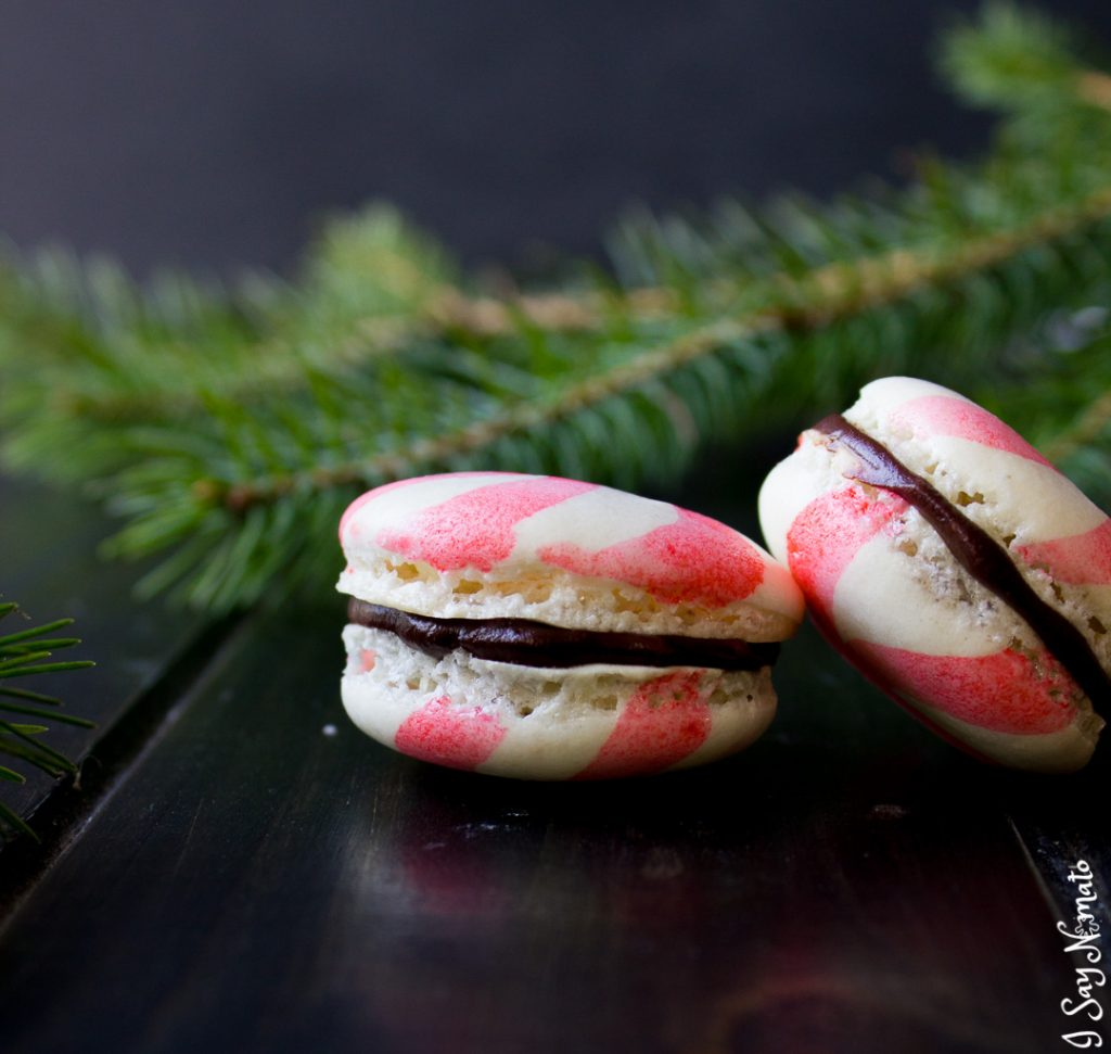 Peppermint Macarons with Chocolate Ganache - I Say Nomato Nightshade Free Food Blog