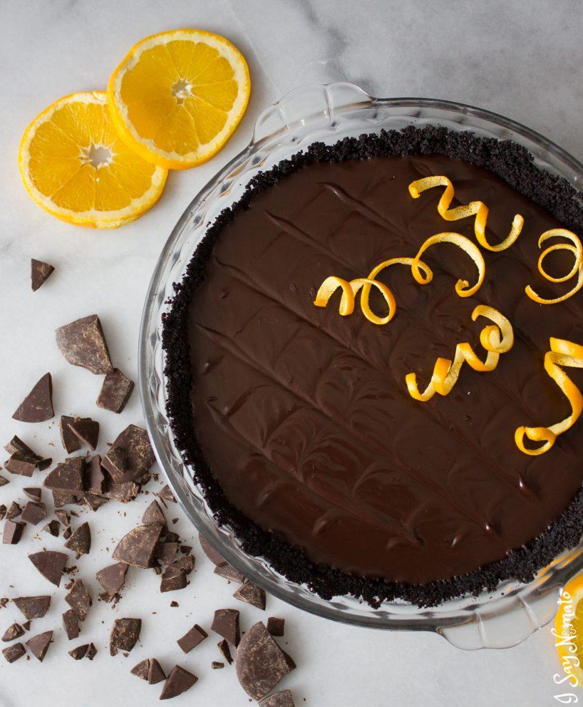 Dark Chocolate and Orange Tart - I Say Nomato