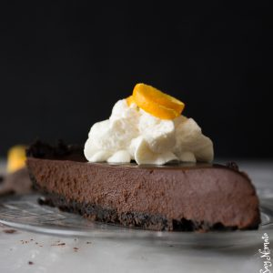 Dark Chocolate and Orange Tart