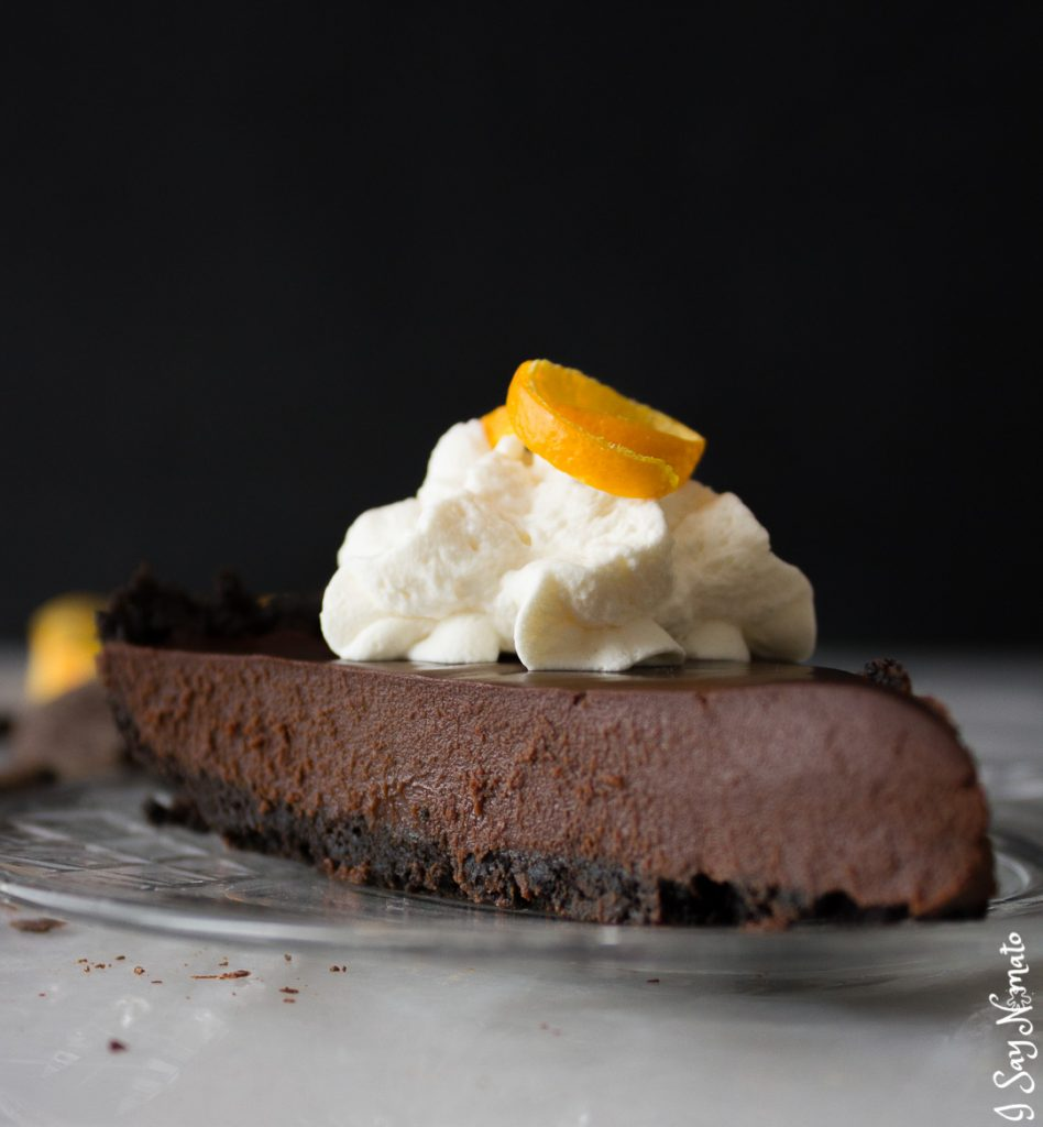 The dessert of your dreams: Dark Chocolate and Orange Tart from I Say Nomato. Smooth, rich, and not too sweet, you'll savour every single bite!