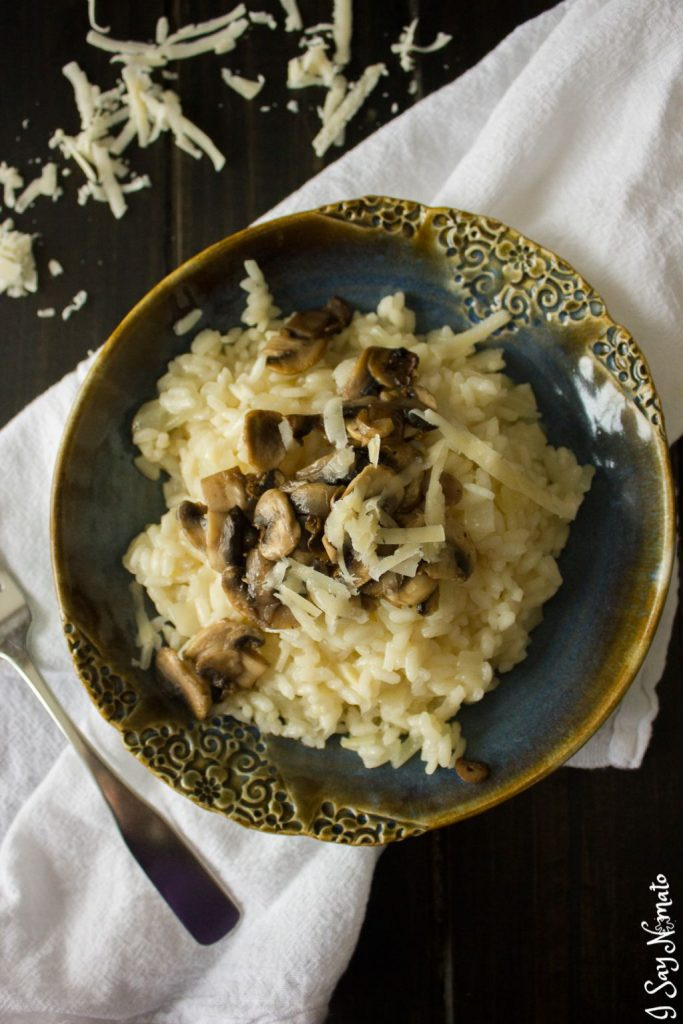 Mushroom Risotto (Risotto ai Funghi) - I Say Nomato Nightshade Free Food Blog