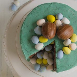 Surprise Spring Cookies and Cream Cake