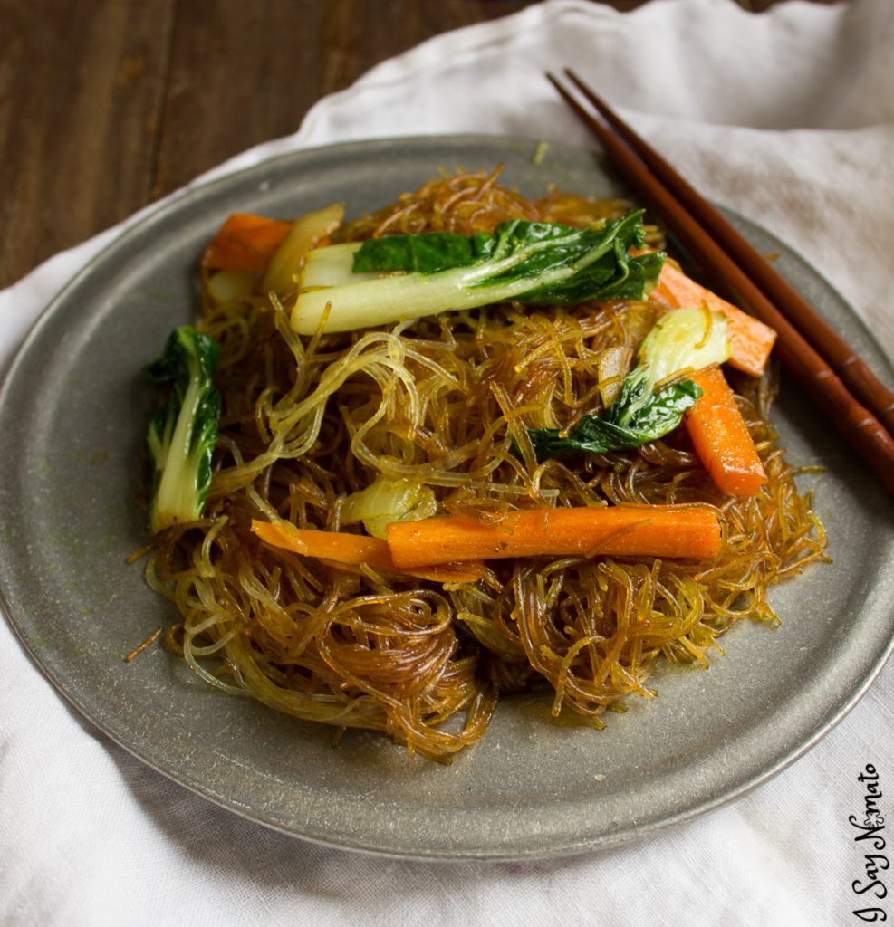These Nightshade Free Singapore Noodles are made with nightshade-free curry powder for a Chinese-Canadian dish with a kick!