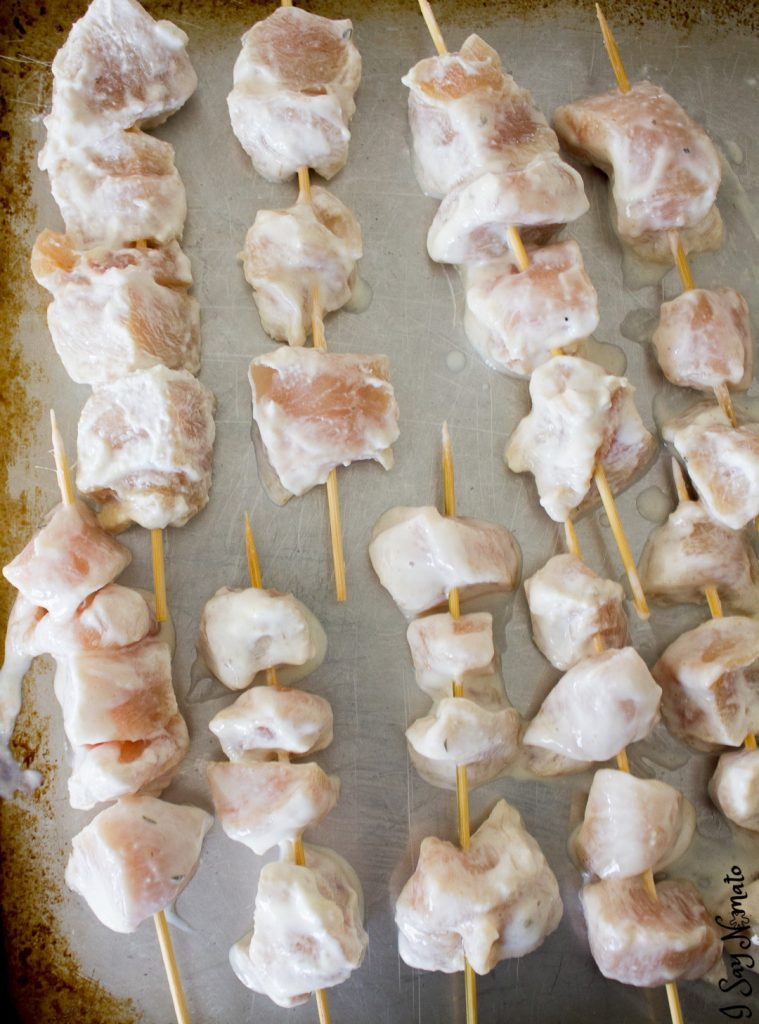 Enjoy a taste of Greece with these marinated Mediterranean Chicken Kebabs! Marinated in yogurt and mixed spices overnight and grilled to perfection, they're juicy, tender, and incredibly flavourful.