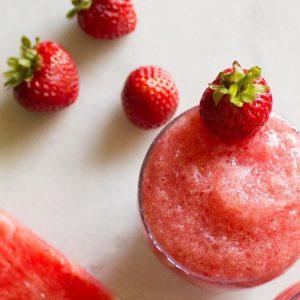 Strawberry Watermelon Slushies