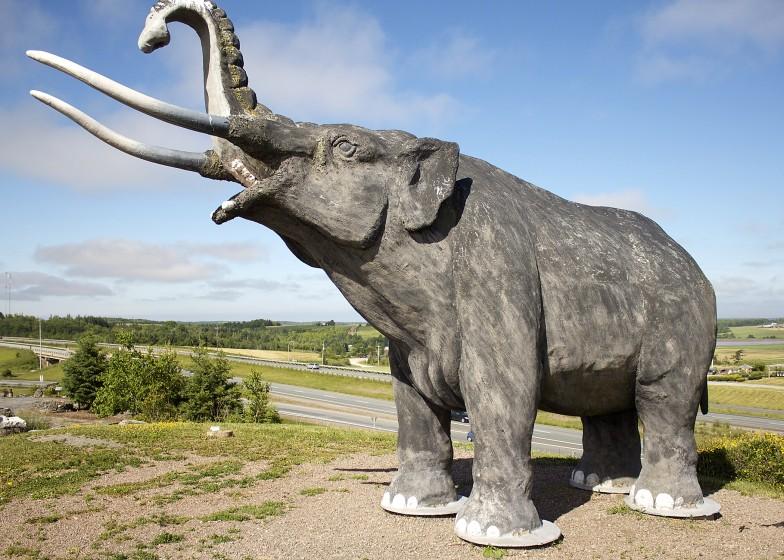 Mastodon Statue Stewiack Nova Scotia