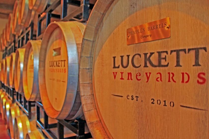 Luckette Vinyards Wine Barrells