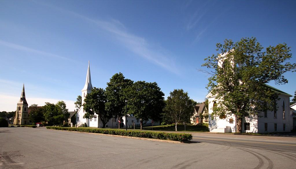 Lunenburg three churches Nova Scotia