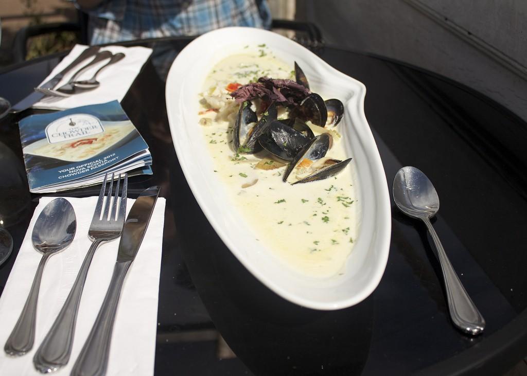 chowder great presentation nova scotia seafood