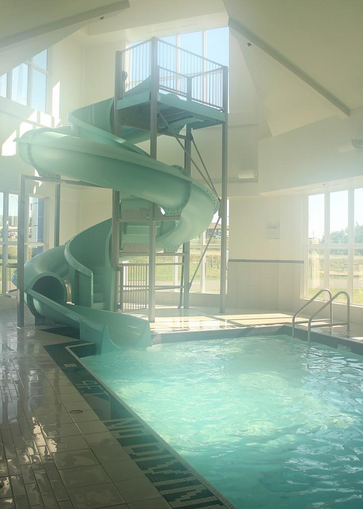 80 ft water slide Nova Scotia Holiday Inn Express Family friendly hotel