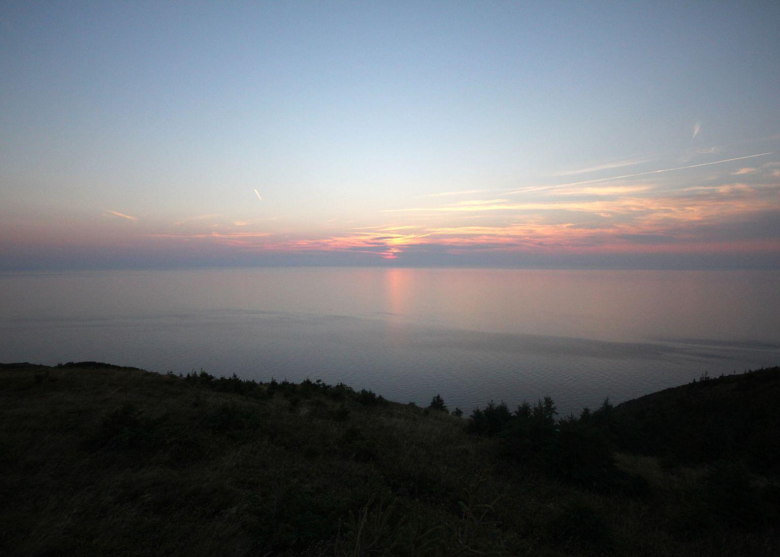 Sunset Cabot Trail Highlands Nova Scotia