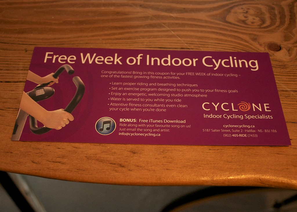 Gift Certificate Halifax Fitness Class Cyclone Cycling Halifax
