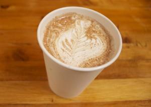 Two if by Sea Chai Latte Coffee Art Leaf
