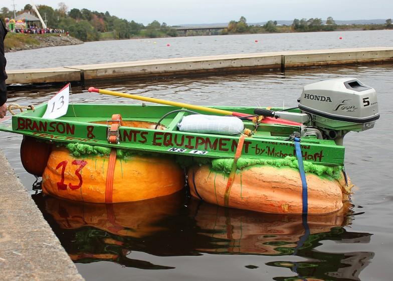 Pumpkin Regatta Motorized Pumpkin Boat