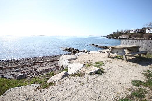 Picnic Table overlooking ocean