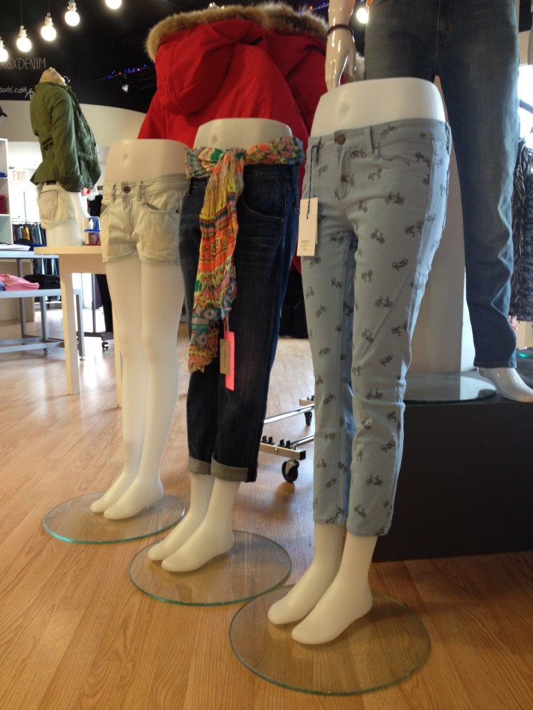 Three Pairs of trendy jeans at Russell Simmonds
