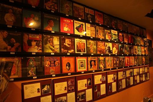 Wall of Hank Snow Albums Museum Nova Scotia