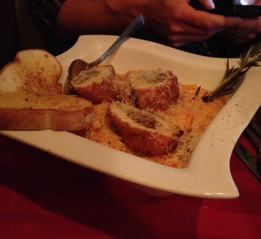 Huge Chicken Pasta with garlic bread The Olive Tree