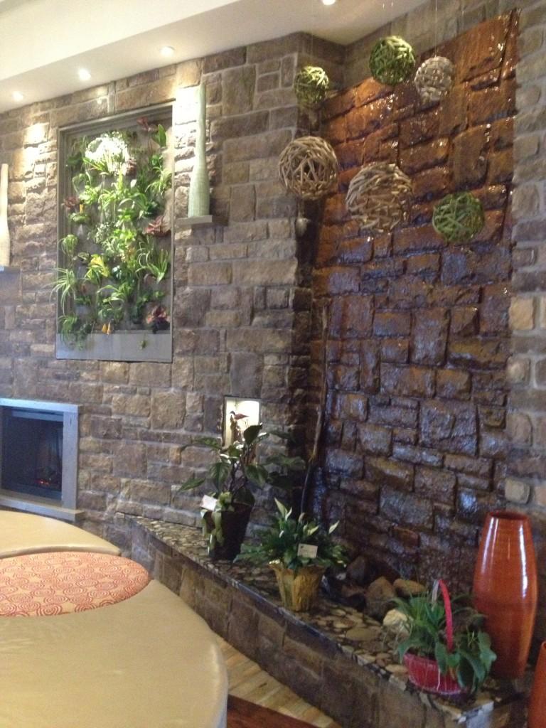 Living Wall in the lobby of the Hampton Inn