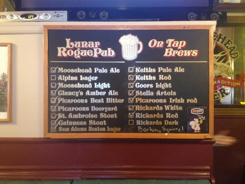 beer at lunar rogue