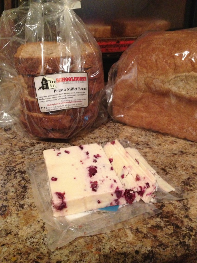 A Market Lunch - School House Breand and Foxhill Cranberry Cheese