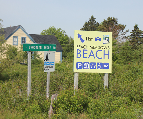 Sign for Beach Meadows