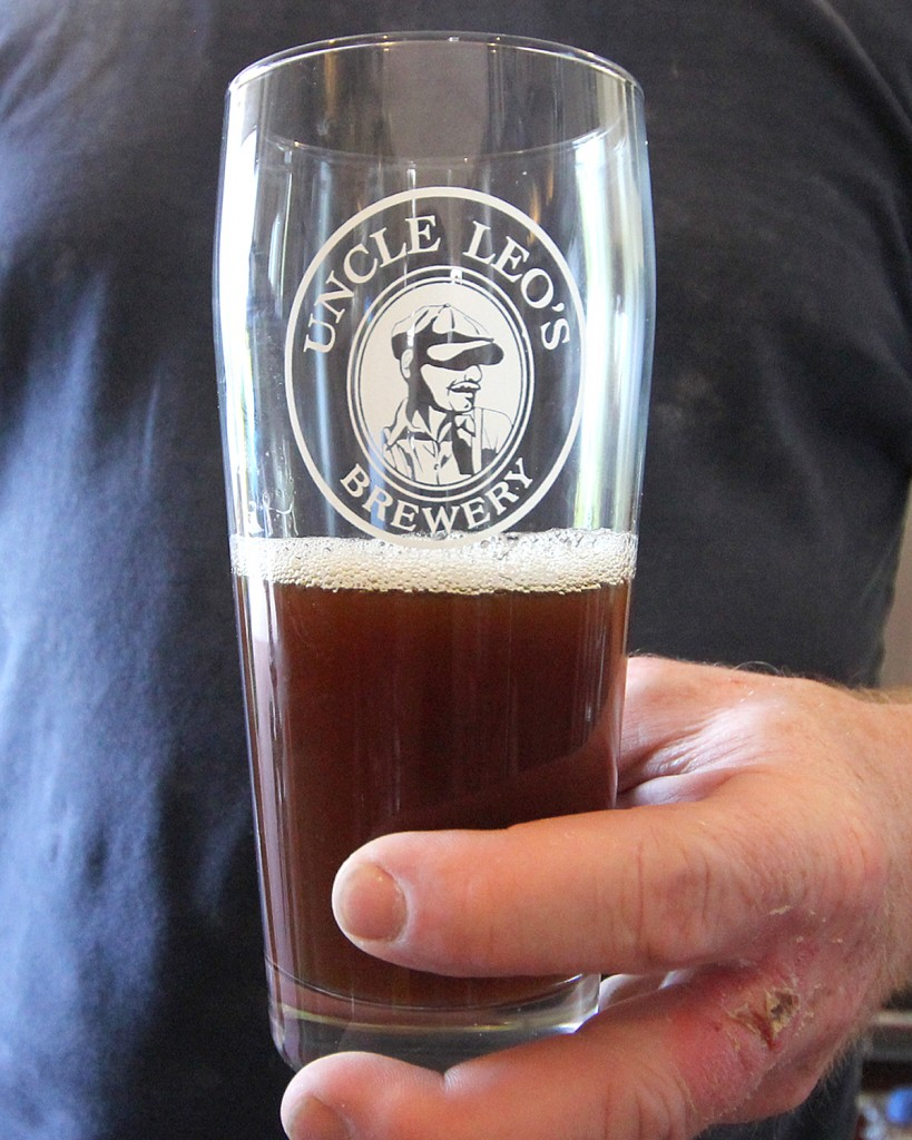 Uncle Leo's Beer Glass with Stout