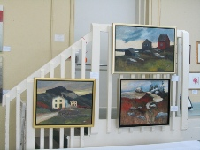 Paintings on a lighthouse