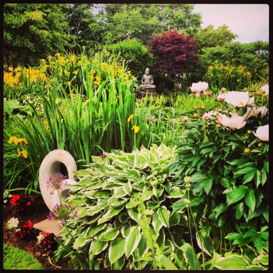 Lush Green Zen Garden at The Dunes The Dunes Brakley Beach best places to eat in PEI Prince Edward Island Paradise