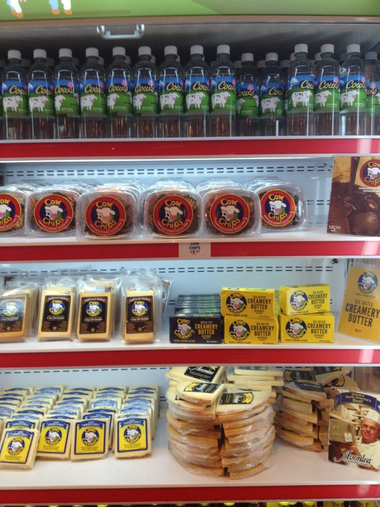 A large selection of the Cows Ice Cream products