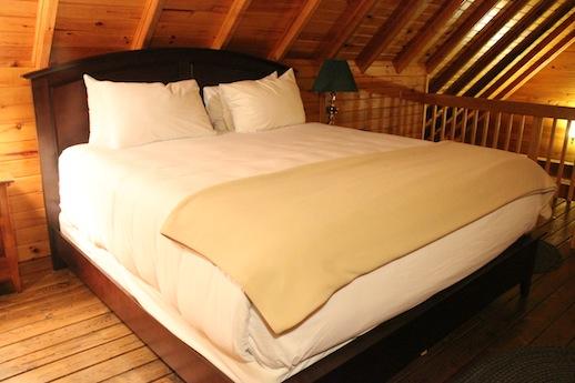 Loft master bedroom at dalvay by the sea